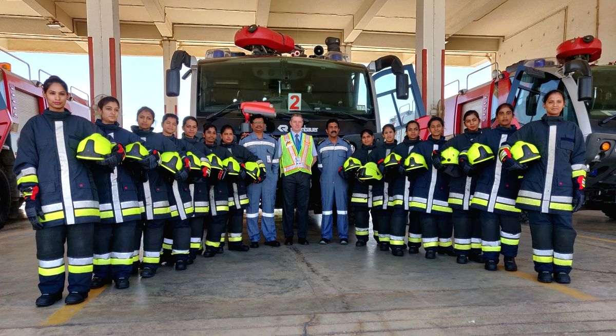 The women firefighters who have been inducted by Bangalore International Airport Ltd (BIAL) into its Aircraft Rescue and Fire Fighting squad making Bengaluru airport the first airport in India to have women firefighters in the crew.