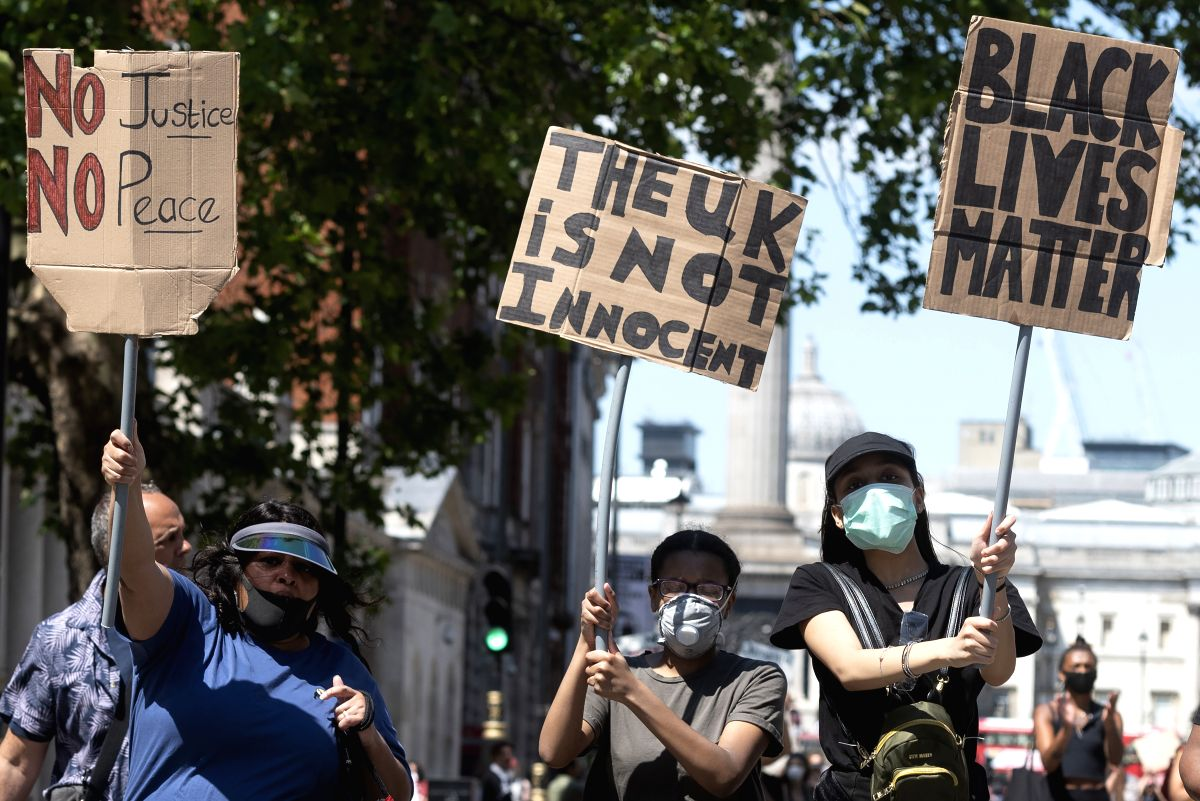 Thousands join 'Black Lives Matter' protest in London