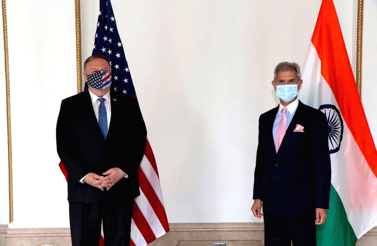 Tokyo: External Affairs Minister S. Jaishankar meets US Secretary of State Mike Pompeo in Tokyo, Japan on Oct 6, 2020. (Photo: IANS/MEA)