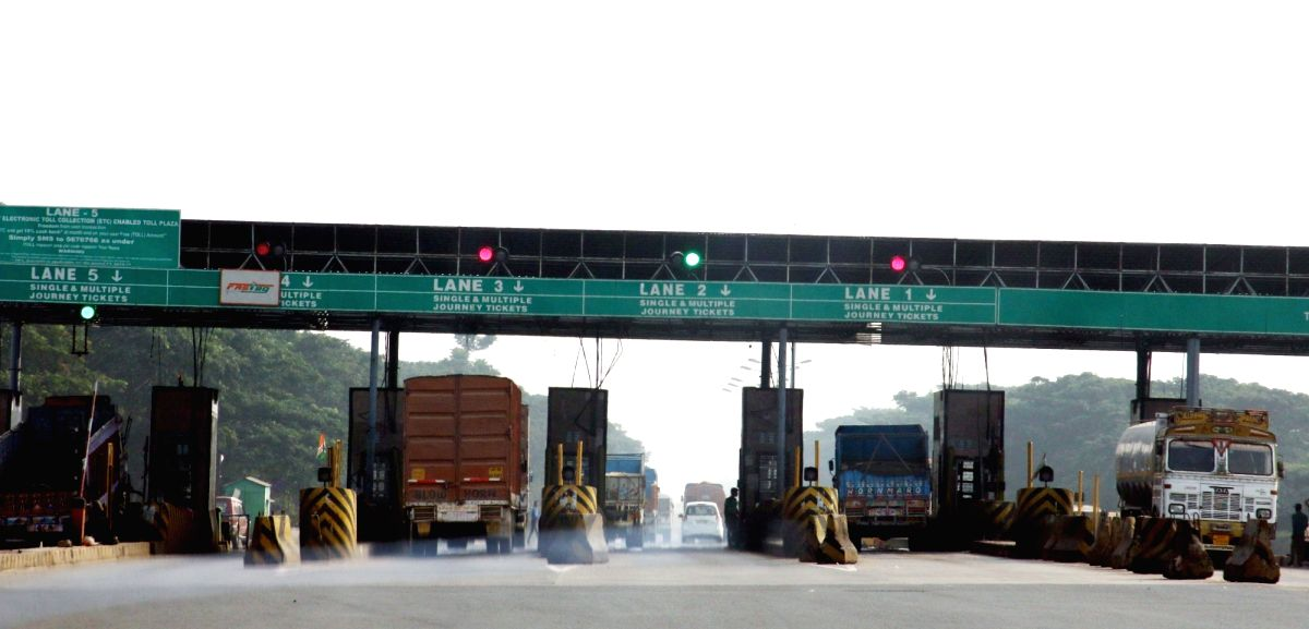 Toll plaza on a highway. (File Photo: IANS)