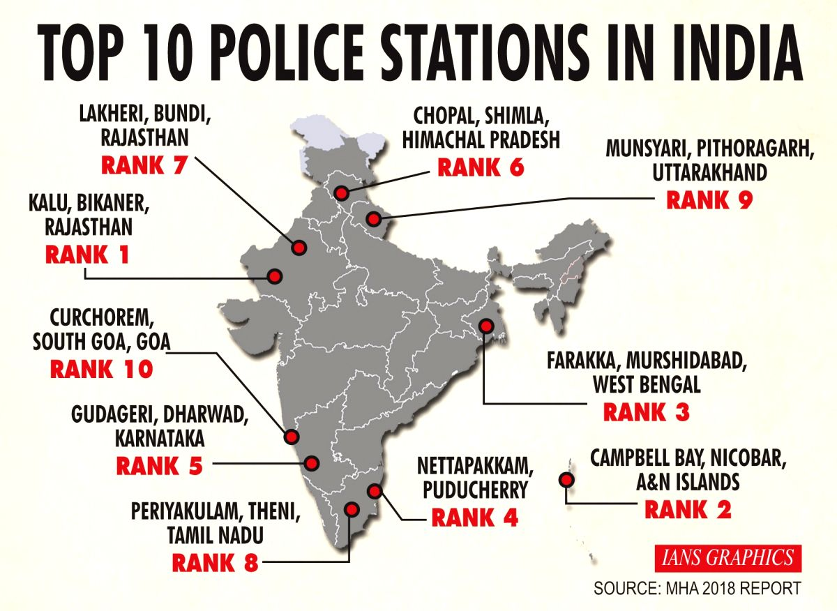 Top 10 police stations in India. (IANS Infographics)