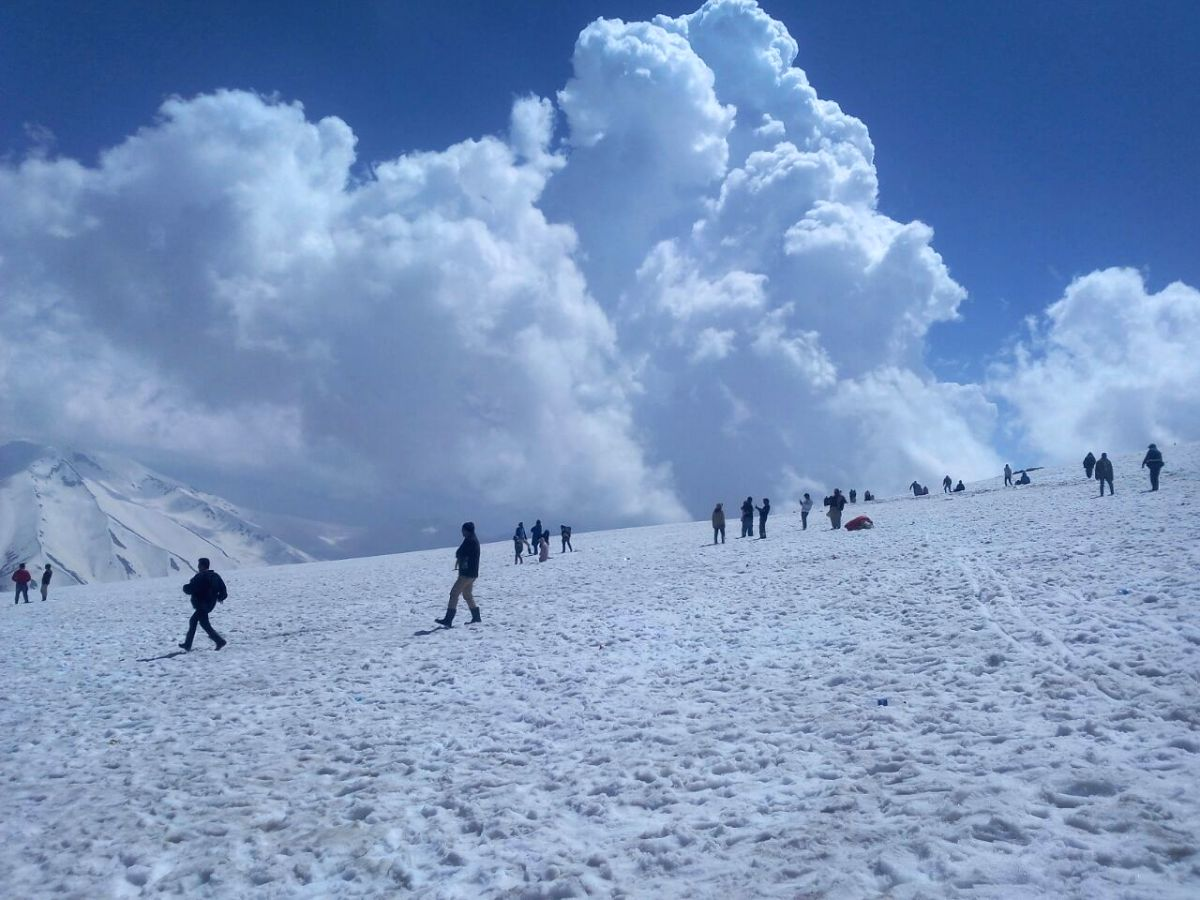 Tourists having a good time in Gulmarg
