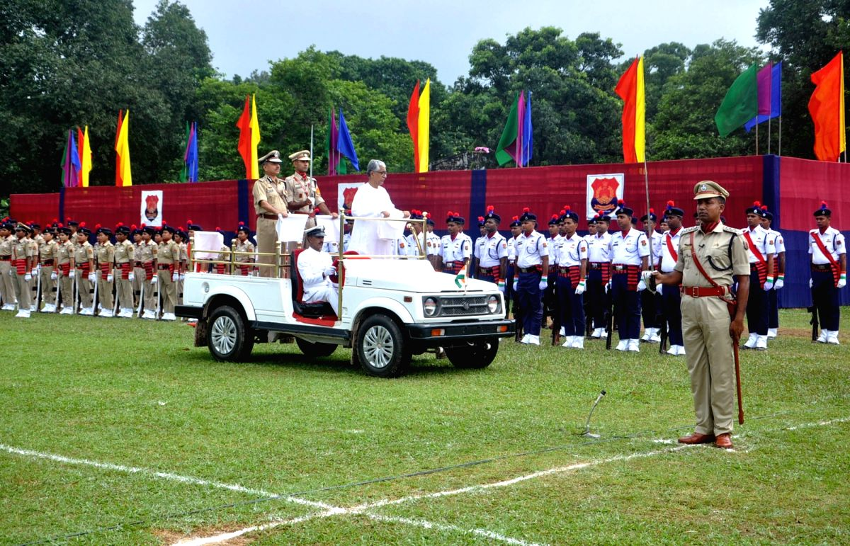 Tripura Chief Minister Manik Sarkar inspects guard of honor during Independence Day parade in Agartala on Aug 15, 2017.