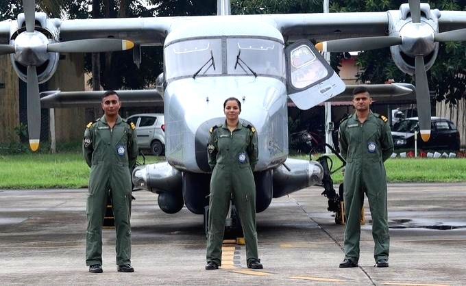 Twitter users heaped praise and tweeted congratulatory messages on Monday as Sub Lieutenant Shivangi became the first naval pilot, joining operational duties in Kochi. She will fly the Dornier surveillance aircraft of the Indian Navy at the Kochi nav