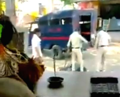 Two cops brutally thrash man in MP, video goes viral.
