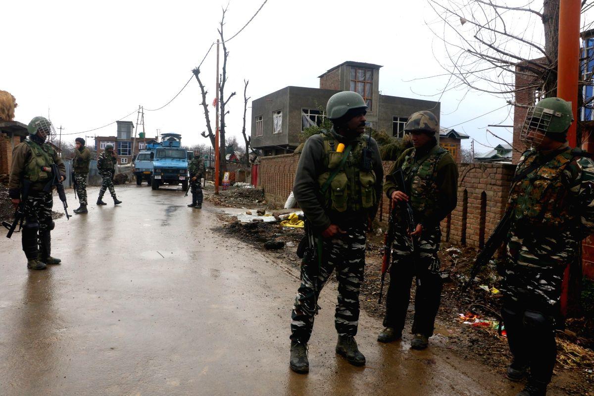 Two Local Militants killed in an Encounter at Khandipora Bjbehara Anantnag district   (Photo: Nissar Malik/IANS)