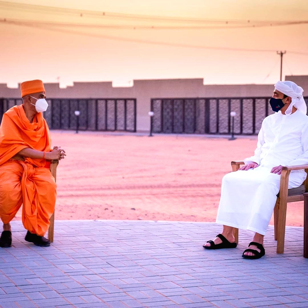 UAE's Sheikh Abdullah inspects Hindu temple site in Abu Dhabi