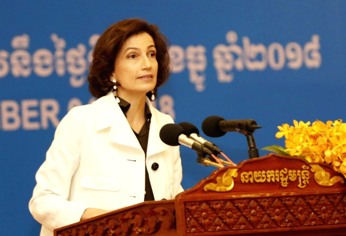 UNESCO's Director-General Audrey Azoulay. (Xinhua/Sovannara/IANS)