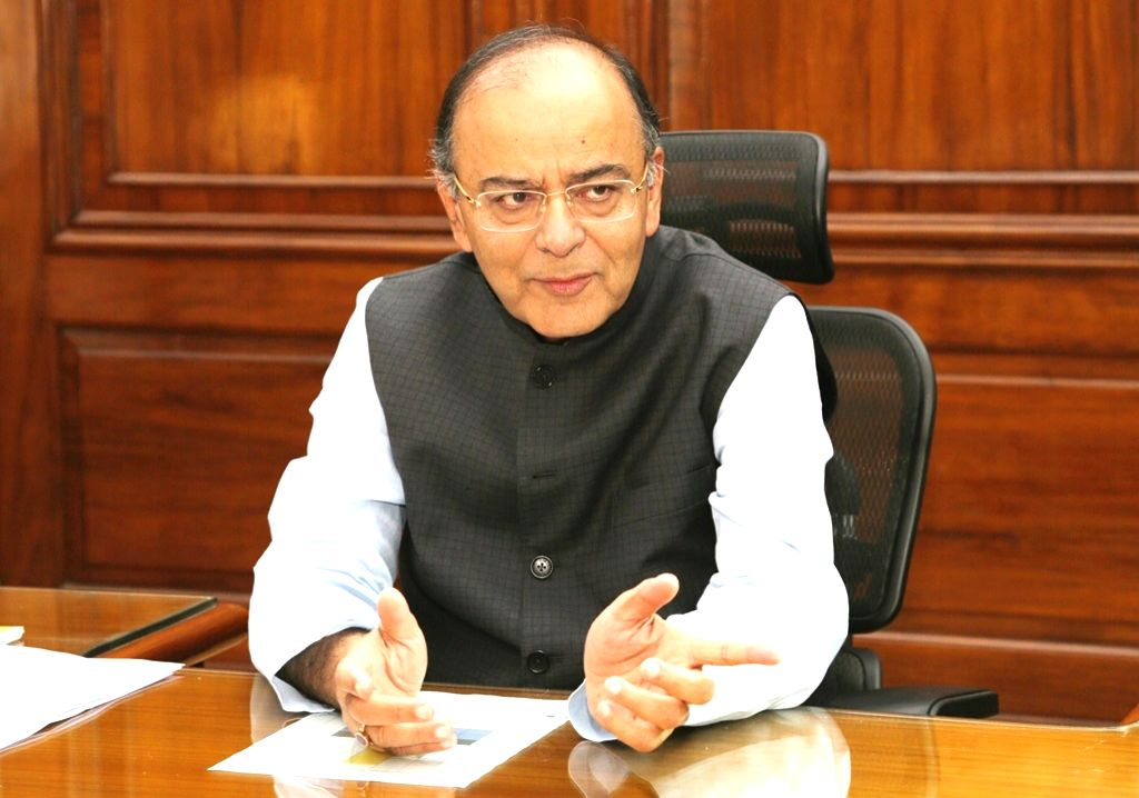 Union Minister and BJP leader Arun Jaitley after taking over additional charge as Union Defence Minister, in New Delhi on March 14, 2017.