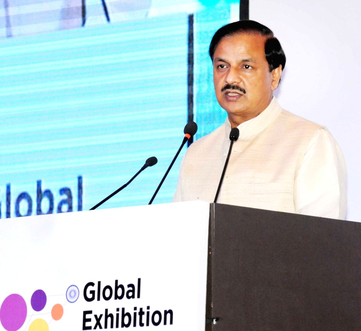 Union Minister of State for Culture (Independent Charge), Tourism (Independent Charge) and Civil Aviation, Dr. Mahesh Sharma addresses at the inauguration of the 2nd Edition of the Global ...