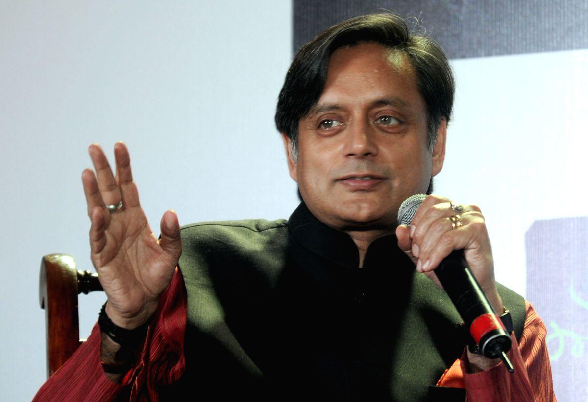 Union Minister of State for HRD Shashi Tharoor speaks during the Kolkata Literay Meet 2013 at Kolkata International Book Fair in Kolkata on Feb. 1.
