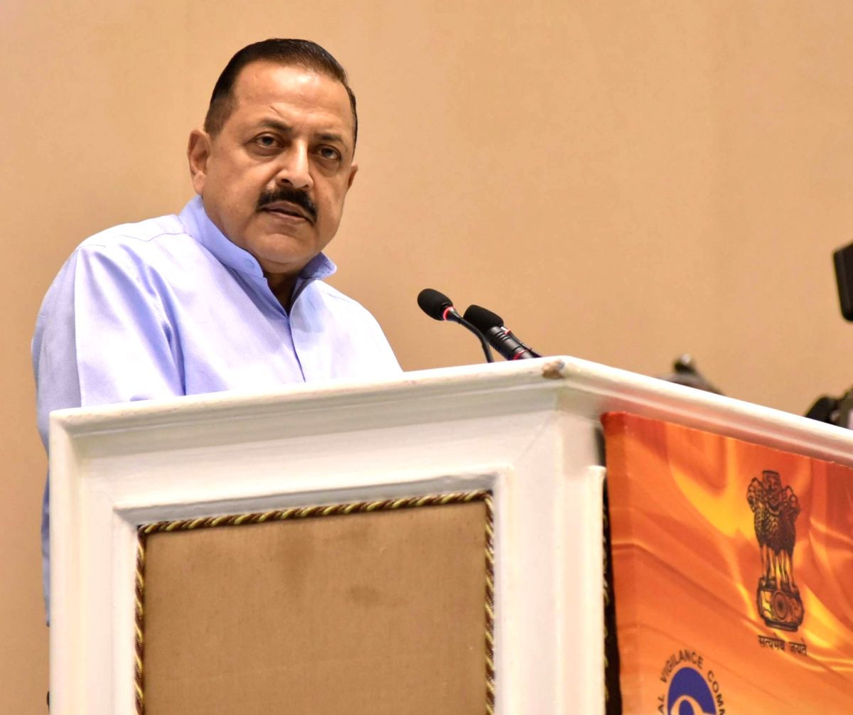 Union MoS Prime Minister's Office Jitendra Singh addresses at a programme on Vigilance Awareness Week 2018, organised by the Central Vigilance Commission (CVC), in New Delhi on Oct 31, ...
