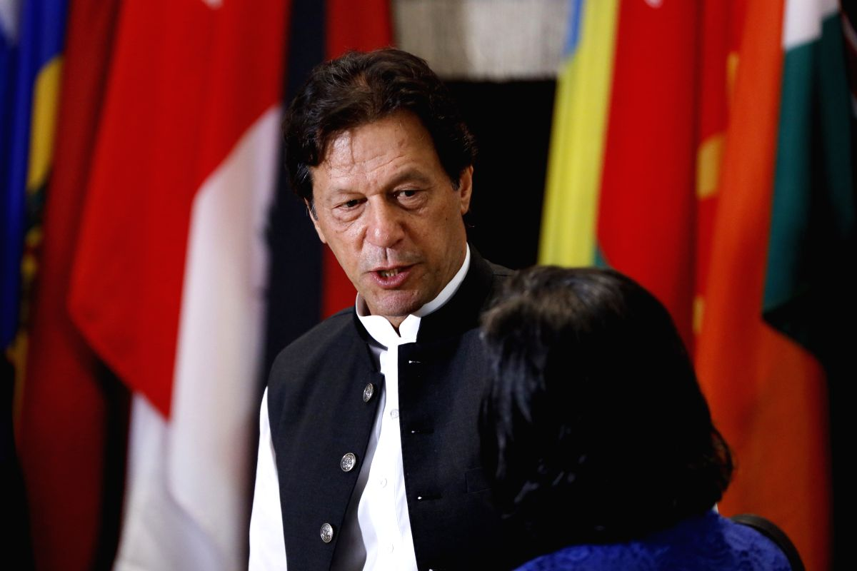 UNITED NATIONS, Sept. 25, 2019 (Xinhua) -- Pakistani Prime Minister Imran Khan attends a luncheon hosted by UN Secretary-General Antonio Guterres for the Heads of Delegation to the 74th Session of the United Nations General Assembly, at the UN headqu