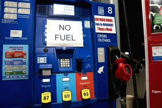 United States: A gasoline station running out of gasoline is seen in Arlington, Virginia, the United States, May 11, 2021. (Xinhua/Liu Jie/IANS)