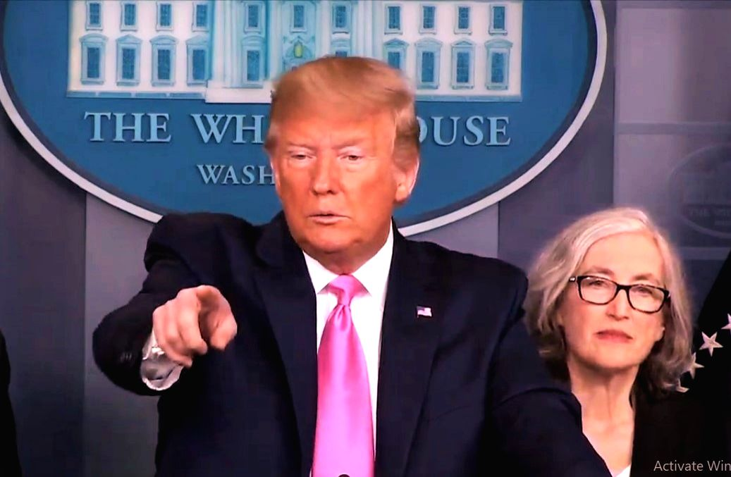 United States President Donald Trump at a White House news conference on Wednesday, Feb, 26, 2020. (Photo: White House/IANS)