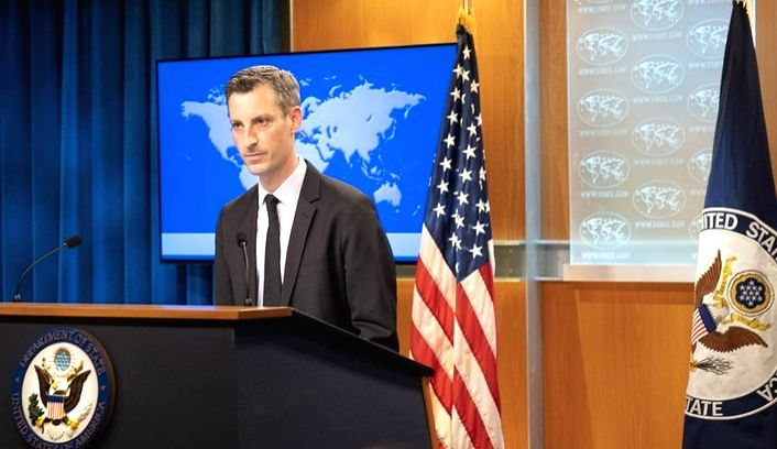 United States State Department Spokesperson Ned Price. (File Photo: State Dept/IANS)