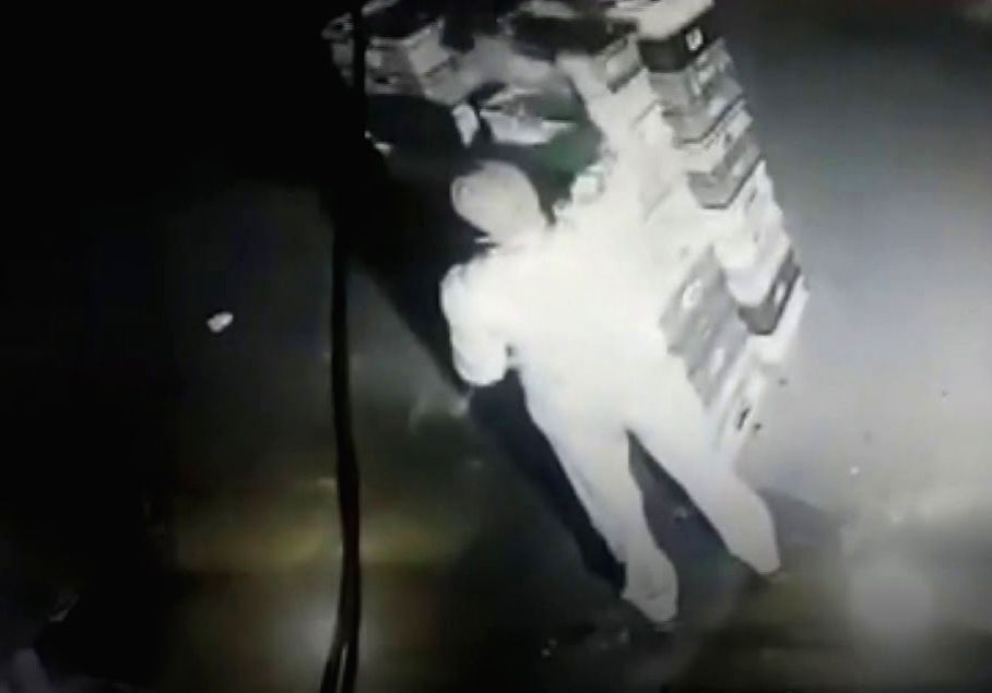 UP cop caught on camera stealing milk