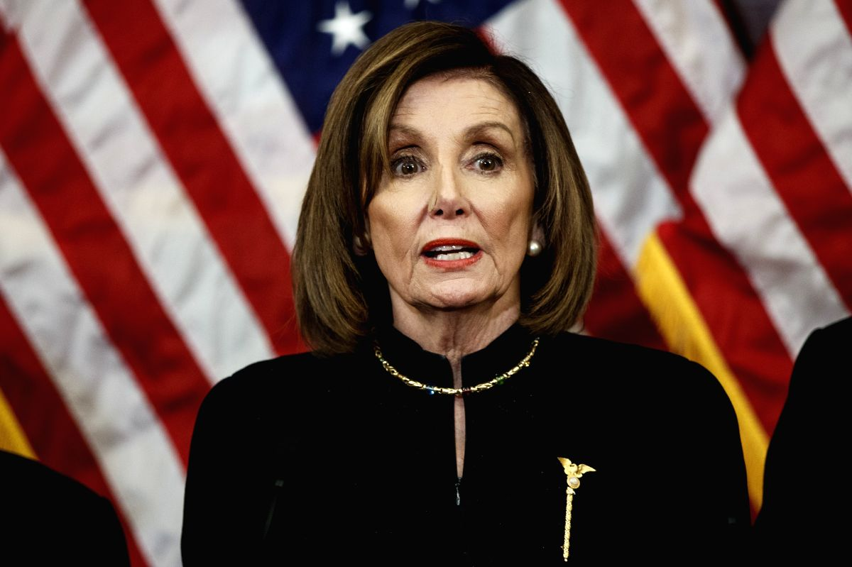 US House Speaker Nancy Pelosi said that two articles of impeachment against President Donald Trump would be sent to the Senate soon for a trial, signaling a possible end to a standoff with Republicans.