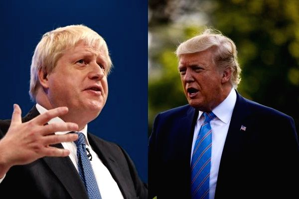 US President Donald Trump and UK Prime Minister Boris Johnson.