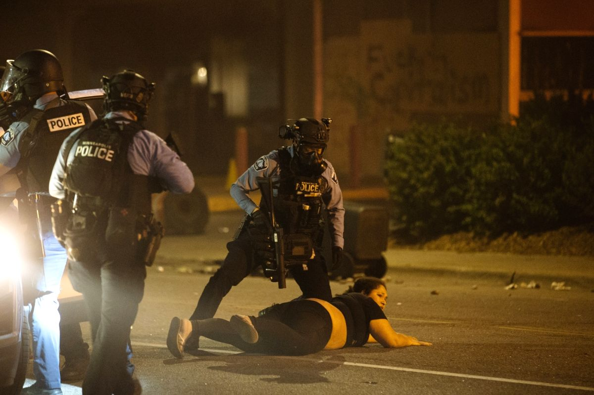 US riots against human rights violations question its worldwide role
