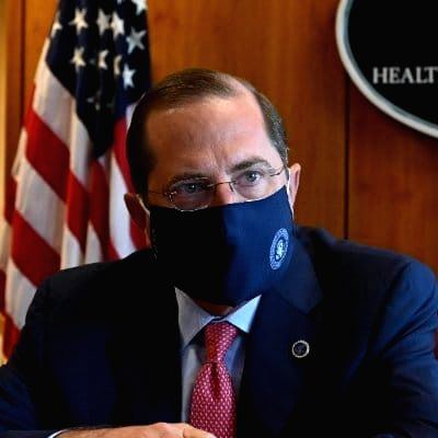 US Secretary of Health Alex Azar.