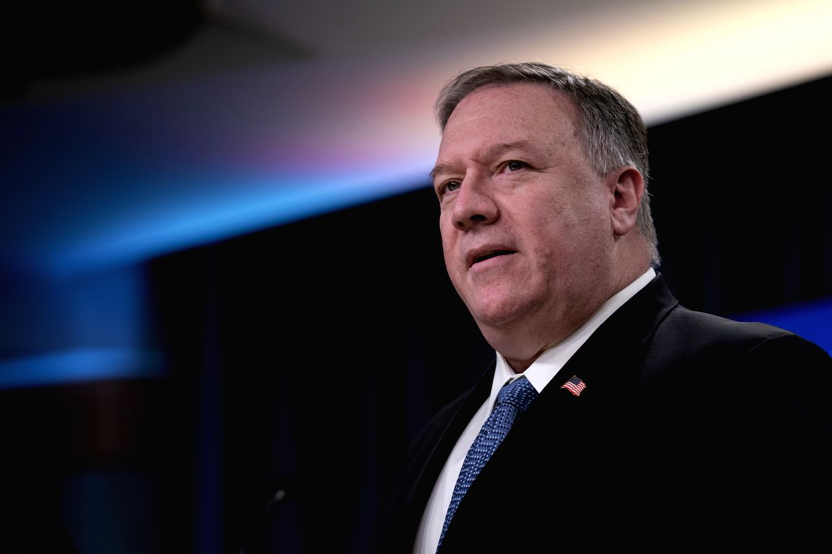 US Secretary of State Mike Pompeo arrived in Kabul on Monday on a surprise visit amid a stalemate in the intra-Afghan talks between the government and the Taliban as it was agreed in the peace deal signed by the militats with Washington. (Xinhua/Liu