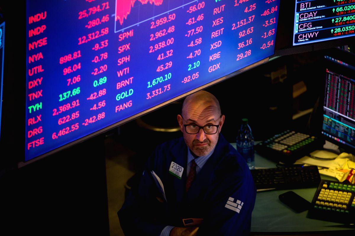US stocks end higher despite record retail sales plunge