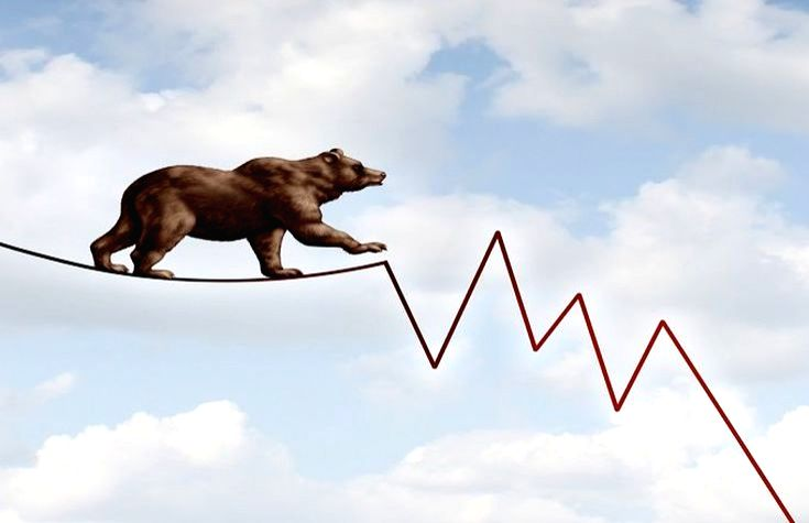 US stocks in bear grip, Dow plunges nearly 1,000 points.