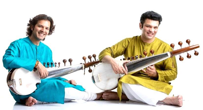 Ustad Ayaan Ali Bangash and Ustad Amaan Ali Bangash.