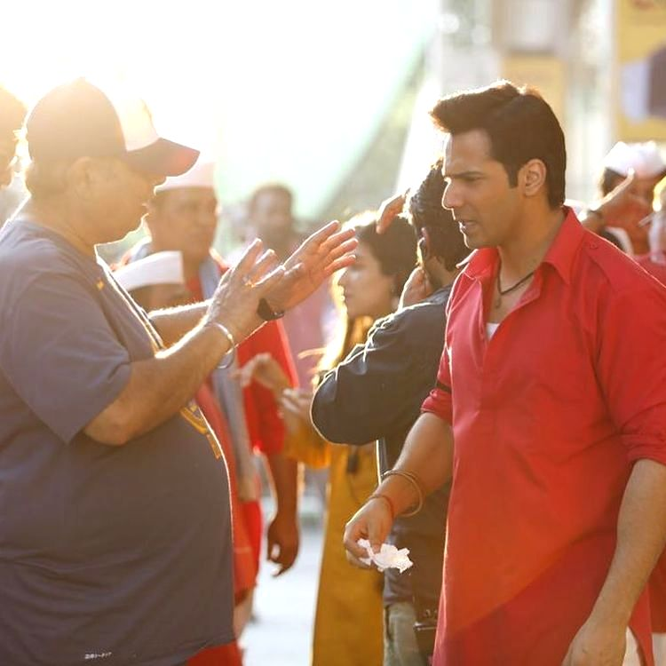 David Dhawan during 'Coolie No 1' shoot
