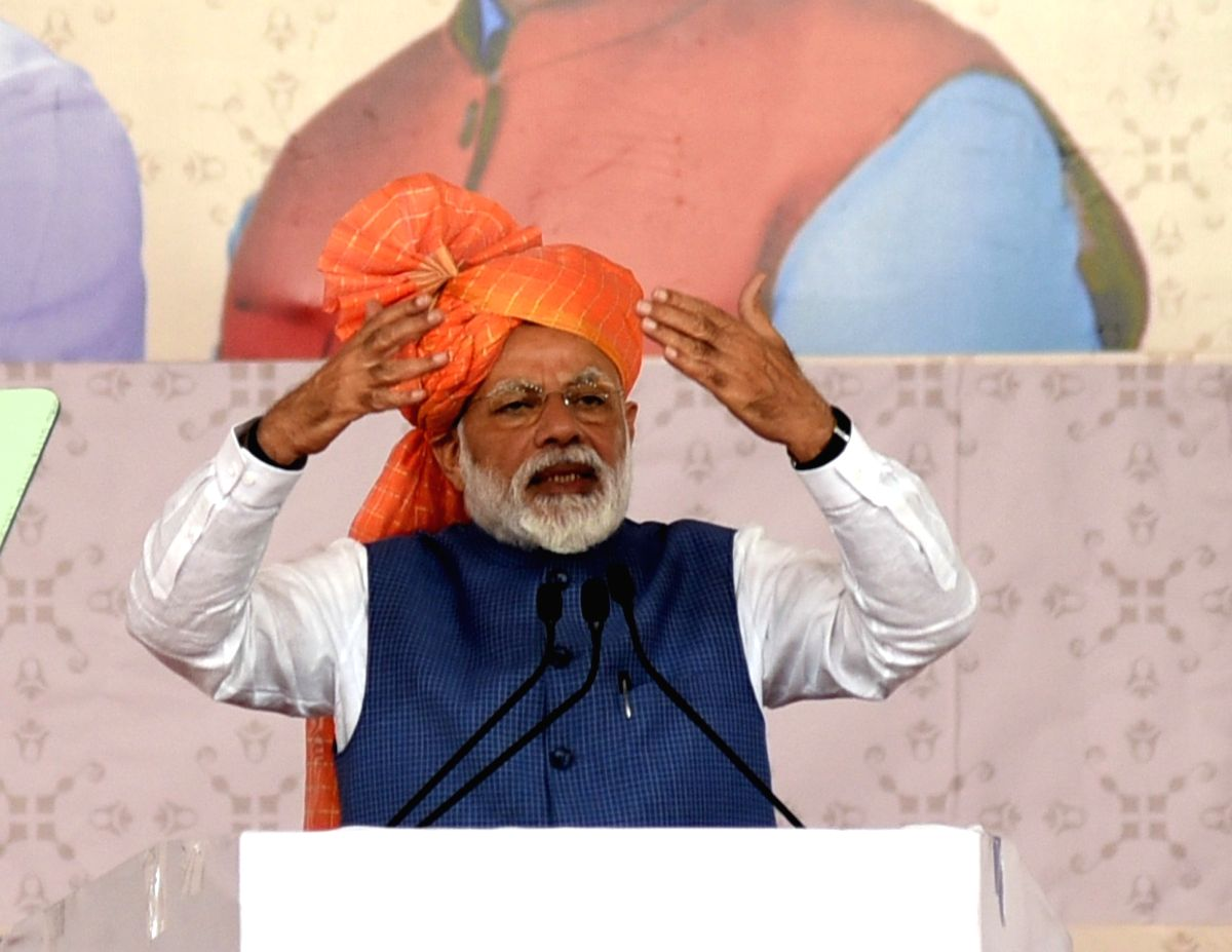 Vastral: Prime Minister Narendra Modi addresses at the inauguration of various development projects in Vastral, Gujarat, on March 5, 2019.