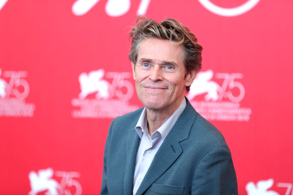 """VENICE, Sept. 3, 2018 (Xinhua) -- Actor Willem Dafoe attends """"At Eternity's Gate"""" photocall during the 75th Venice International Film Festival at Sala Casino, Venice, Italy, Sept. 3, 2018. (Xinhua/Cheng Tingting/IANS)"""