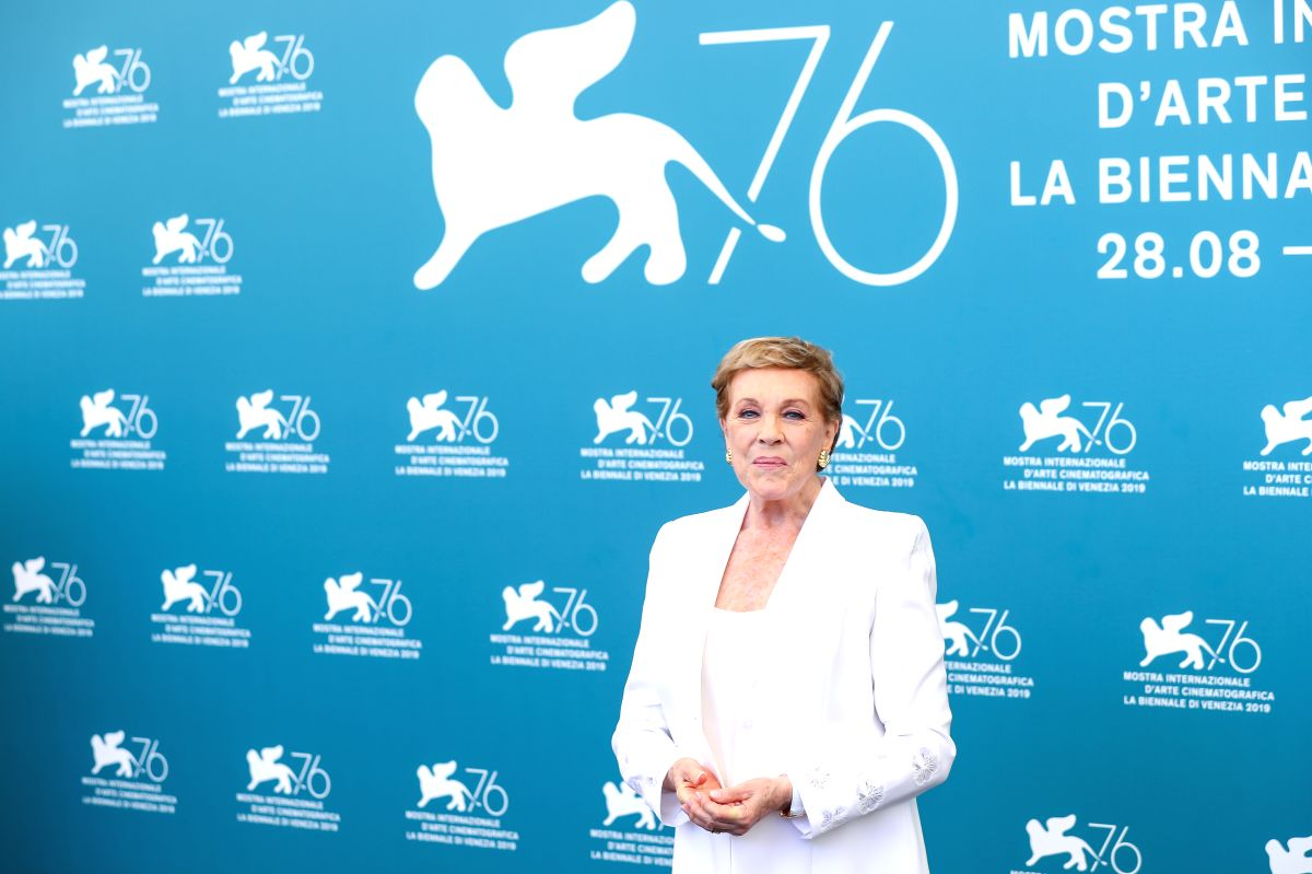 VENICE, Sept. 3, 2019 (Xinhua) -- Julie Andrews poses for photos during a photocall at the 76th Venice Film Festival in Venice, Italy, on Sept. 3, 2019. Internationally beloved as an unforgettable enchanted Mary Poppins (among her many roles), Britis