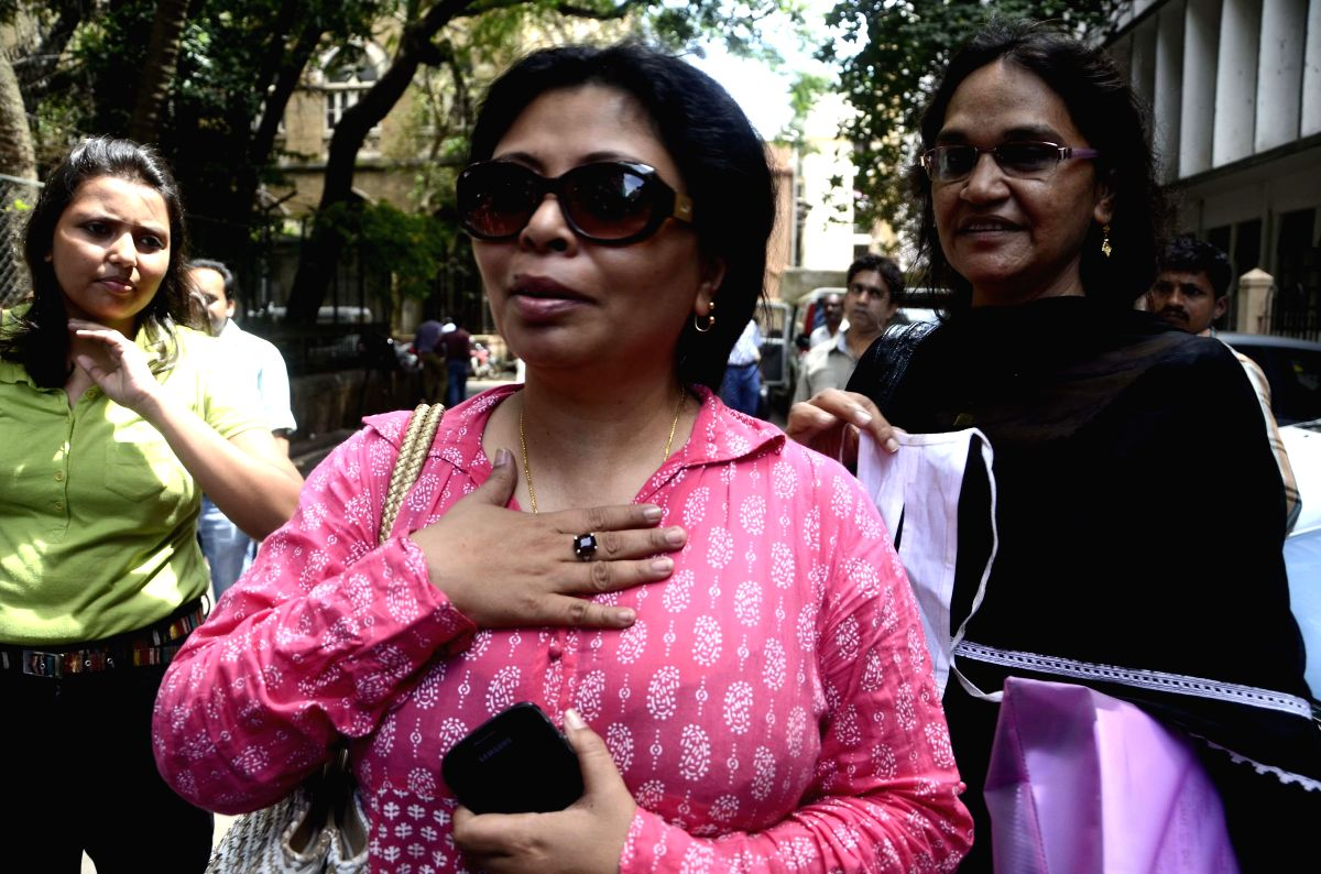 Veteran Actor Om Puri`s wife Nandita Puri at a sessions court in Mumbai on August 28, 2013. (Photo: Sandeep Mahankal/IANS)