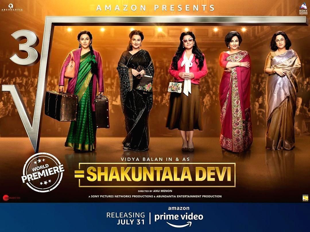 Vidya Balan gives math equation for special viewing of trailer of 'Shakuntala Devi'.