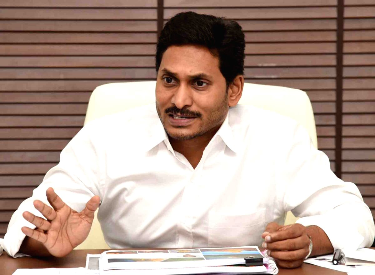 Vijayawada: Andhra Pradesh Chief Minister Y.S. Jagan Mohan Reddy presides over a review meeting with the officials of Youth Development, Tourism and Culture Departments, in Vijayawada on Oct 11, 2019.