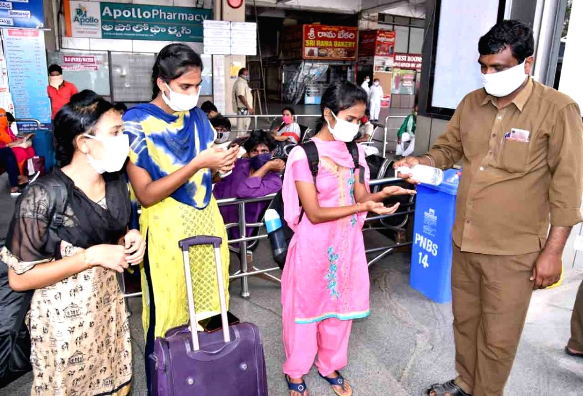 Vijayawada: Massive 1-day spike of 2,432 new cases in AP (APSRTC) resumes its operations on the fourth day of the fourth phase of the nationwide lockdown imposed to mitigate the spread of coronavirus on May 21, 2020.