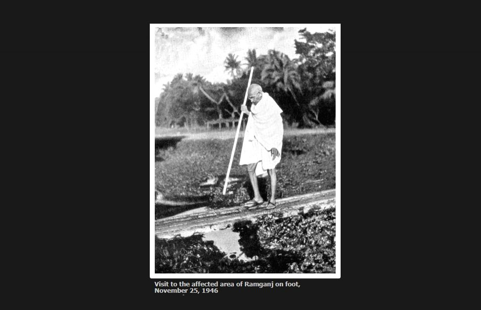 Visit to the affected area of Ramganj on foot, November 25, 1946