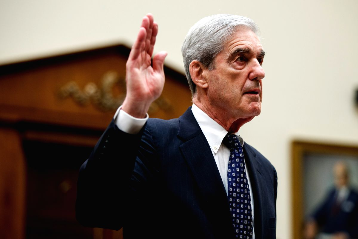 WASHINGTON, July 24, 2019 (Xinhua) -- Former U.S. Special Counsel Robert Mueller swears before the House Judiciary Committee during a hearing about his investigation into alleged Russian interference in the 2016 U.S. presidential election and whether