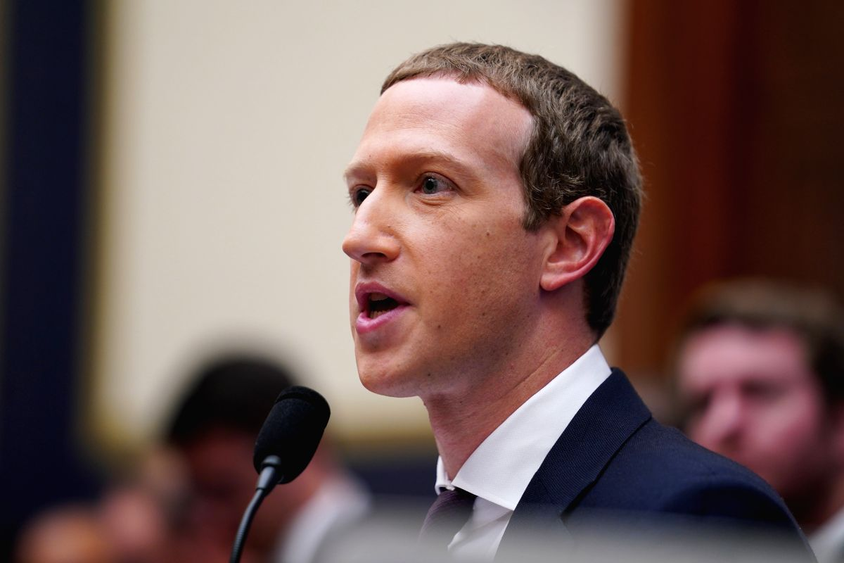 WASHINGTON, Oct. 23, 2019 (Xinhua) -- Facebook CEO Mark Zuckerberg testifies before the U.S. House Financial Services Committee during An Examination of Facebook and Its Impact on the Financial Services and Housing Sectors hearing on Capitol Hill in