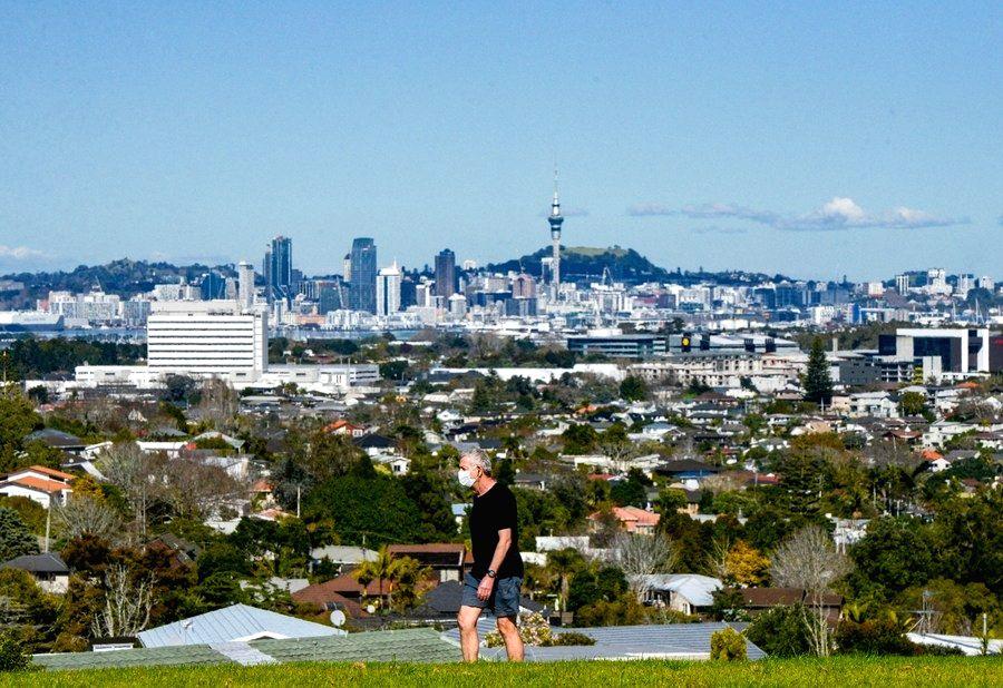 Wellington, Aug. 17, 2020 (Xinhua) -- A man takes a walk in Auckland, New Zealand, Aug. 15, 2020. (Photo by Li Qiaoqiao/Xinhua/IANS)