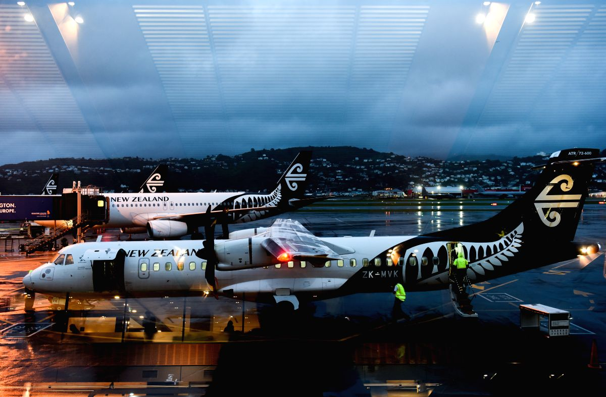 WELLINGTON, June 2, 2019 (Xinhua) -- File photo taken on Oct. 30, 2018 shows Air New Zealand planes at the Wellington Airport in Wellington, New Zealand. An Air New Zealand plane from Palmerston North to Christchurch was forced to return on June 1, 2