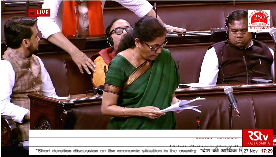 While Finance Minister Nirmala Sitharaman was denying that there is a slowdown in the economy in Parliament, her BJP colleagues sitting behind slowly started going to sleep.