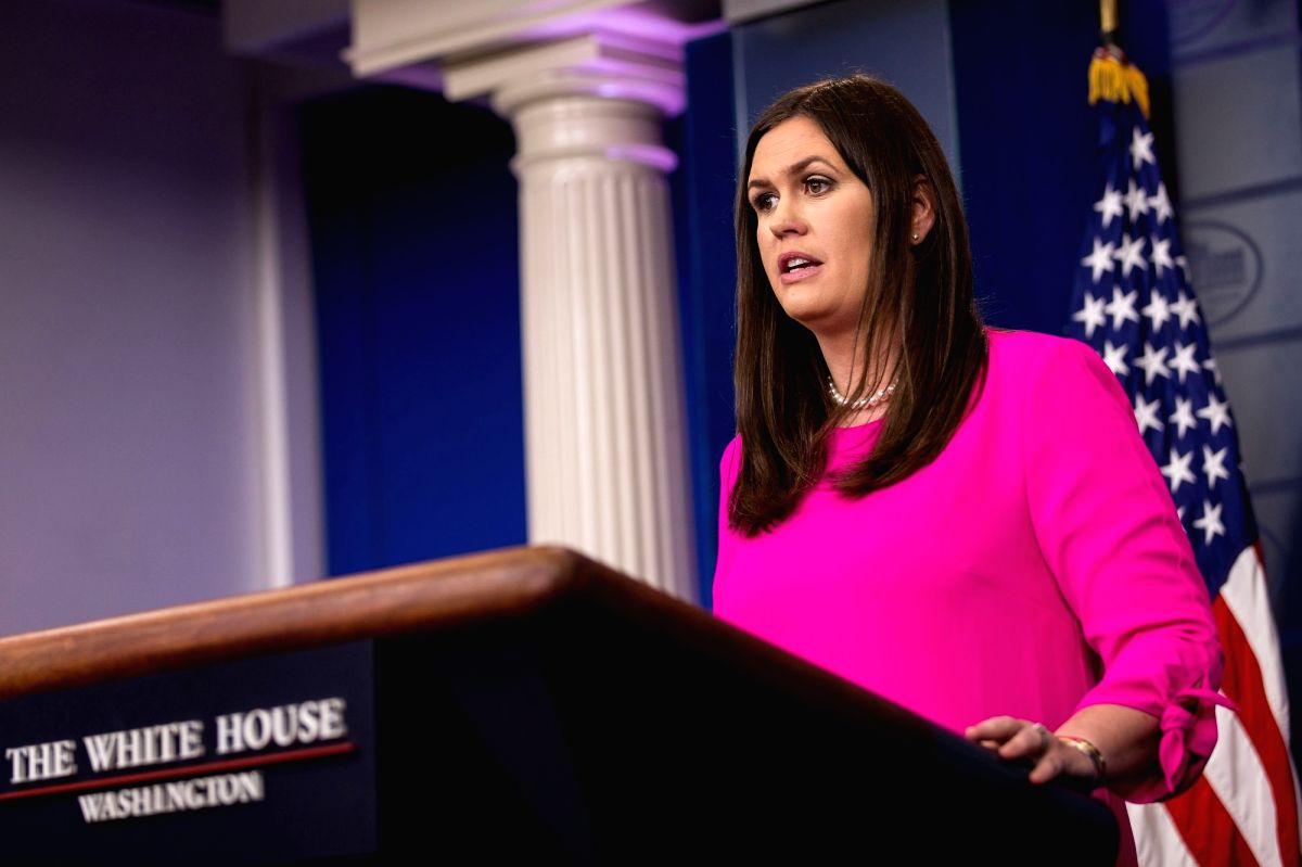 White House Press Secretary Sarah Huckabee Sanders. (File Photo: IANS)