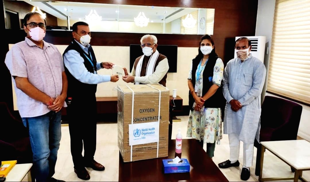 WHO gives 100 oxygen concentrators to Haryana in first phase.