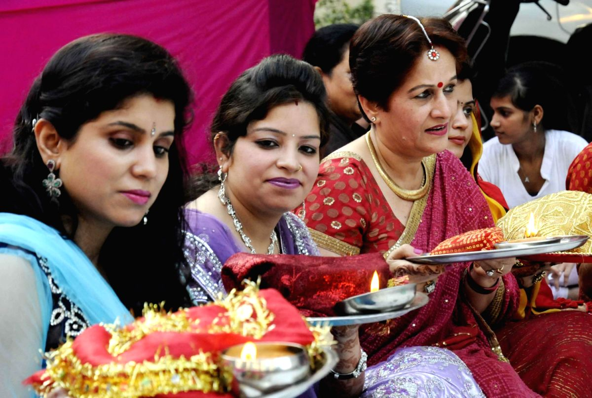 Women celebrate `Karwa Chauth`