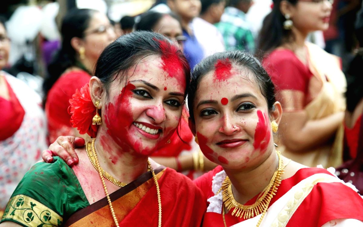 Sindoor Khela -  a time for fun, frolic and fostering sisterhood.