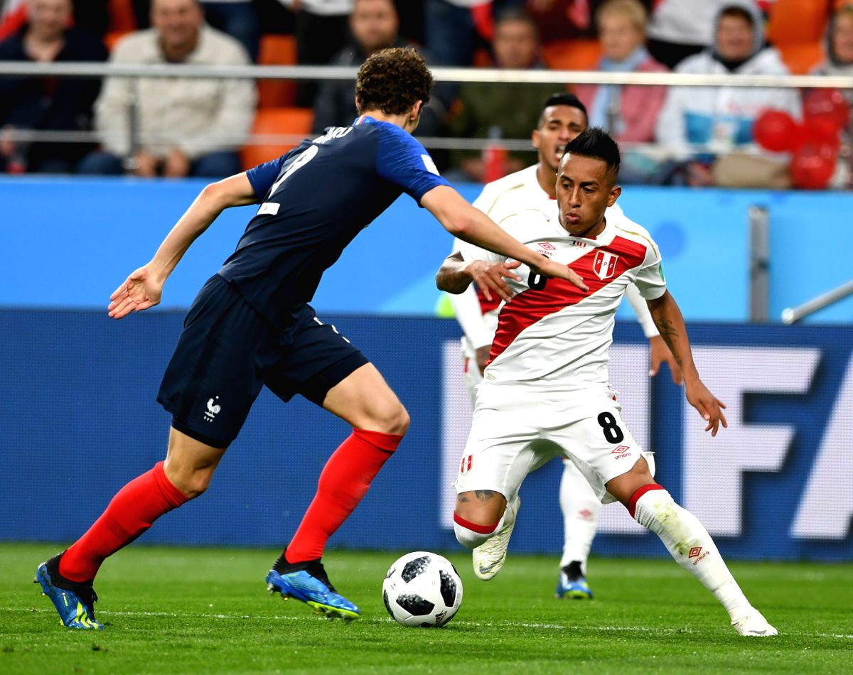 Peru's Christian Cueva became the first player to miss a penalty shot for his country in the World Cup.