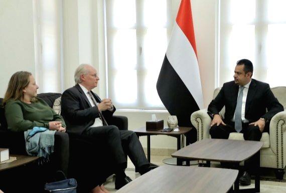 Yemen PM, US envoy discuss ceasefire initiative