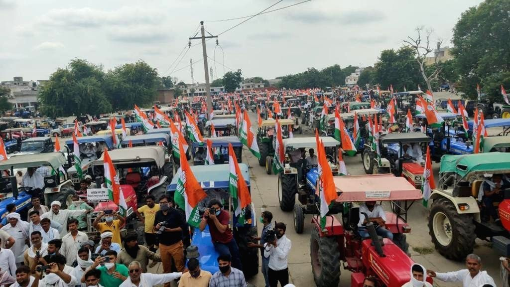 Tractor rally: Rajasthan traffic volunteers with green jackets, well-defined route (Represenational image)